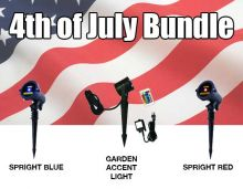 Blisslights Bundle - 2 Spright Red and Blue +Garden Accent Light