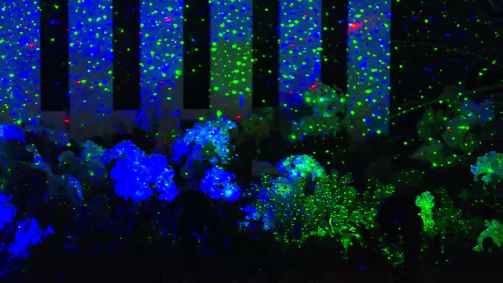 Blisslights Spright Motion Blue Laser Light Remote Outdoors Stars Projector Vapor